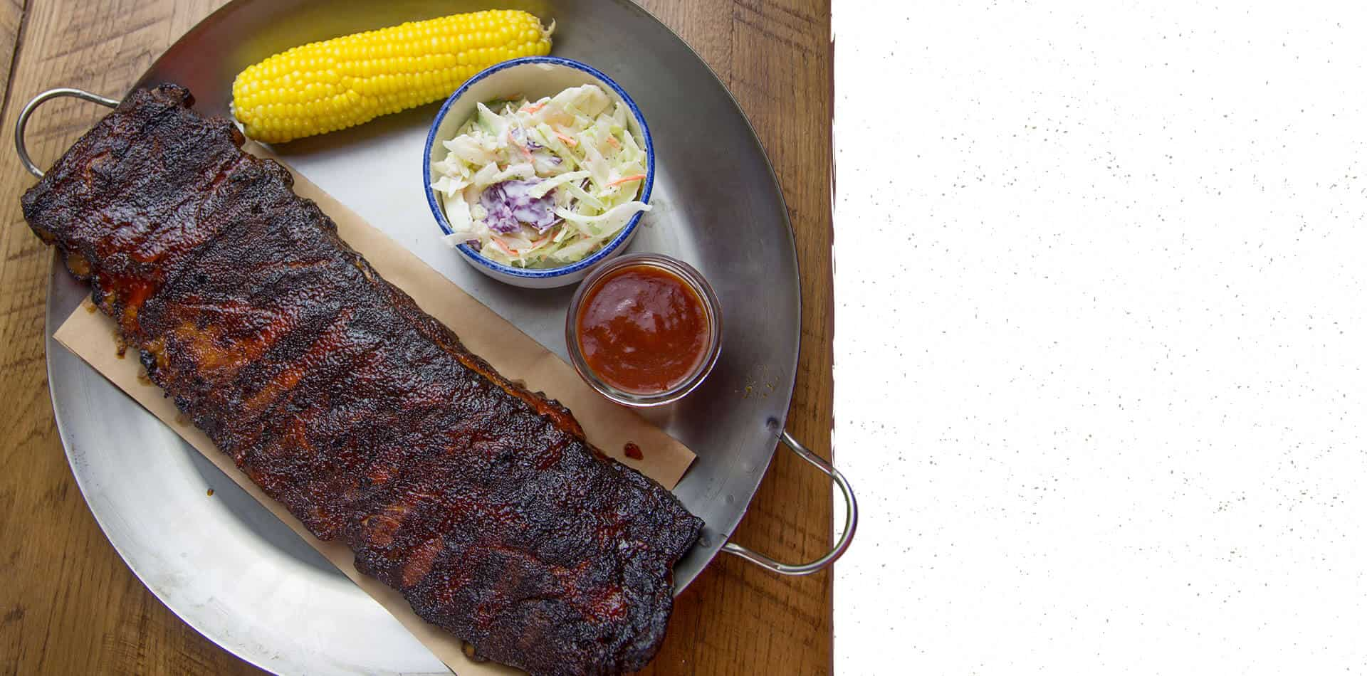 Smokehouse Ribs at Five Oaks Farm Kitchen
